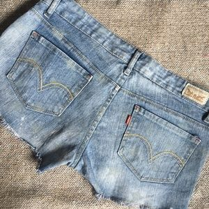 Levi's Faded Stars Denim Short Shorts